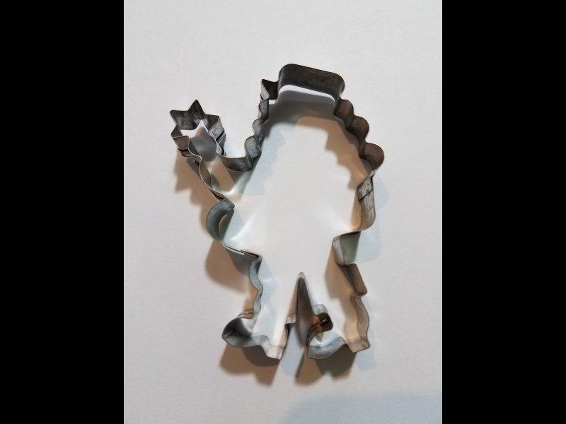 Papa Noel con estrella  - 8 x 6 cm