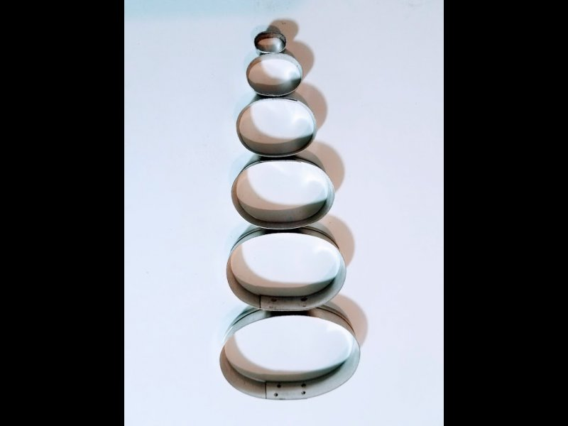 Ovalos x 6 - De 1 cm a 6 cm de altura  cada ovalo