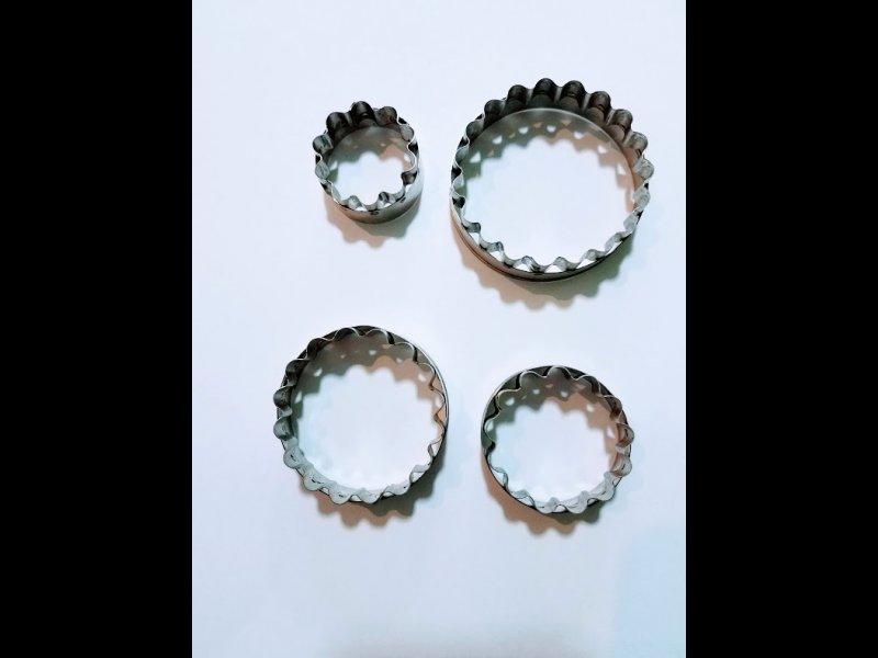 Set redondos ondeados - de 3 - 4 - 5 y 6 cm